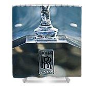 1952 Rolls-royce Hood Ornament Shower Curtain by Jill Reger
