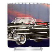 1953  Cadillac El Dorardo Convertible Shower Curtain by Jack Pumphrey