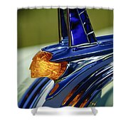 1953 Pontiac Hood Ornament 3 Shower Curtain by Jill Reger