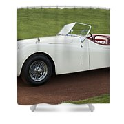 1954 Jaguar Xk120 Roadster  Shower Curtain by Jill Reger