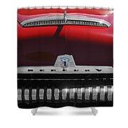 1954 Mercury Monterey Hood Ornament Shower Curtain by Jill Reger