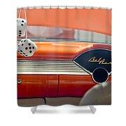 1955 Chevrolet Belair Dashboard Shower Curtain by Jill Reger