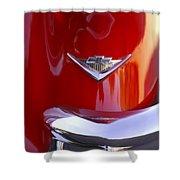 1955 Chevrolet Belair Nomad Emblem Shower Curtain by Jill Reger