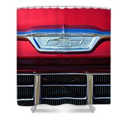 1955 Chevrolet Pickup Truck Grille Emblem Shower Curtain by Jill Reger