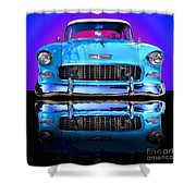 1955 Chevy Bel Air Shower Curtain by Jim Carrell