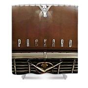 1955 Packard 400 Hood Ornament Shower Curtain by Jill Reger