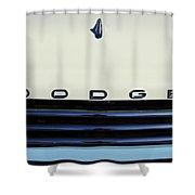 1958 Dodge Sweptside Truck Grille Shower Curtain by Jill Reger