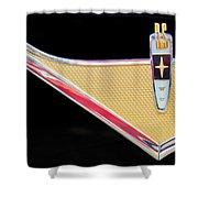 1959 DeSoto Adventurer Emblem Shower Curtain by Jill Reger