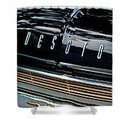 1959 Desoto Adventurer Hood Emblem Shower Curtain by Jill Reger