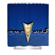 1959 Pontiac Bonneville Emblem Shower Curtain by Jill Reger