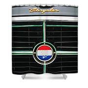 1960 Chrysler 300F Convertible Grille Emblem Shower Curtain by Jill Reger