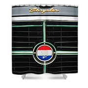 1960 Chrysler 300f Convertible Grille Emblem Shower Curtain by Jill Reger