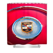 1960 Chrysler Imperial Crown Convertible Emblem Shower Curtain by Jill Reger