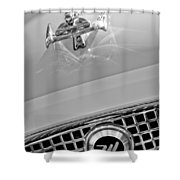 1960 Nash Metropolitan Hood Ornament Shower Curtain by Jill Reger