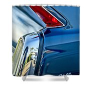1962 Cadillac Deville Taillight Shower Curtain by Jill Reger
