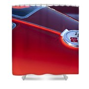 1963 Chevrolet Corvette Split Window Shower Curtain by Jill Reger