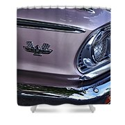 1963 Ford Galaxie Front End And Badge Shower Curtain by Kaye Menner