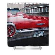 1963 Ford Thunderbird Shower Curtain by Paul Kuras
