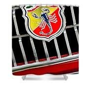 1967 Fiat Abarth 1000 Otr Emblem Shower Curtain by Jill Reger