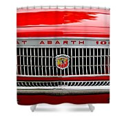 1967 Fiat Abarth 1000 OTR Grille Shower Curtain by Jill Reger