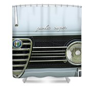 1968 Alfa Romeo Giulia Super Grille Shower Curtain by Jill Reger