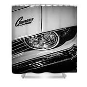 1969 Chevrolet Camaro In Black And White Shower Curtain by Paul Velgos