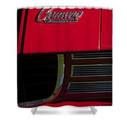 1969 Chevrolet Camaro Rally Sport Emblem Shower Curtain by Jill Reger