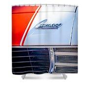 1969 Chevrolet Camaro RS-SS Indy Pace Car Replica Hood Emblem Shower Curtain by Jill Reger
