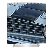 1969 Chevrolet Camaro Z 28 Grille Emblem Shower Curtain by Jill Reger