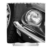 1969 Ford Mustang Mach 1 Front End Shower Curtain by Jill Reger