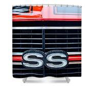1970 Chevrolet Chevelle SS 454 Grille Emblem Shower Curtain by Jill Reger