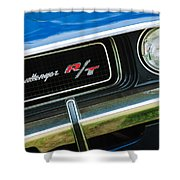 1970 Dodge Challenger RT Convertible Grille Emblem Shower Curtain by Jill Reger