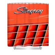 1972 Chevrolet Corvette Stingray Emblem 3 Shower Curtain by Jill Reger