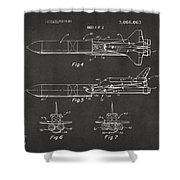 1975 Space Vehicle Patent - Gray Shower Curtain by Nikki Marie Smith