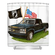1988 Chevrolet M I A Tribute Shower Curtain by Jack Pumphrey