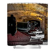 19th Century Cannon Line Shower Curtain by Optical Playground By MP Ray