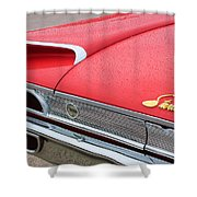 1960 Ford Galaxie Starliner Taillight Emblem Shower Curtain by Jill Reger