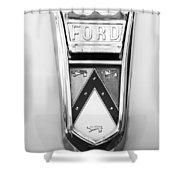 1963 Ford Falcon Futura Convertible  Emblem Shower Curtain by Jill Reger
