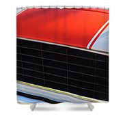 96 Inch Panoramic -1969 Chevrolet Camaro Rs-ss Indy Pace Car Replica Grille - Hood Emblems Shower Curtain by Jill Reger
