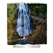 An Angel In The Falls Shower Curtain by Jeff Swan