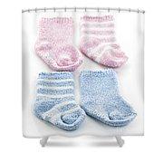 Baby socks Shower Curtain by Elena Elisseeva