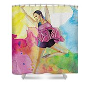 Ballet Dancer Shower Curtain by Corporate Art Task Force