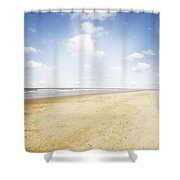 Beachlight Shower Curtain by Les Cunliffe