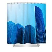 Business Skyscrapers Shower Curtain by Michal Bednarek
