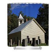 Cades Cove Primitive Baptist Church Shower Curtain by Dan Sproul
