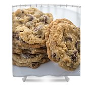 Chocolate Chip Cookies Shower Curtain by Edward Fielding