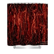 Color Abstraction VI Shower Curtain by David Gordon