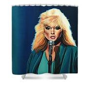 Deborah Harry Or Blondie Shower Curtain by Paul Meijering