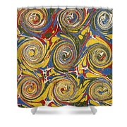 Decorative End Paper Shower Curtain by English School