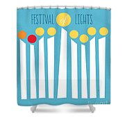 Festival Of Lights Shower Curtain by Linda Woods